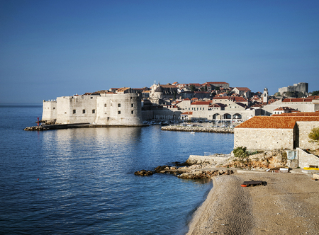 balkans: dubrovnik old town view and adriatic coast in croatia balkans Editorial