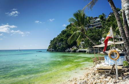 island paradise: diniwid beach resorts in famous boracay tropical exotic paradise island philippines Editorial