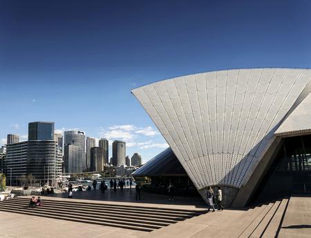sydney opera house: sydney opera house landmark and central CBD skyline in australia  on sunny day Editorial