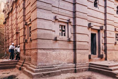 ethiopian: famous ancient ethiopian orthodox christian rock hewn churches of lalibela ethiopia