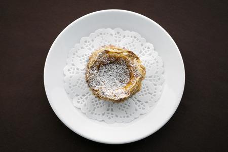 nata: pastel de nata famous portuguese sweet snack egg custard pastry tart