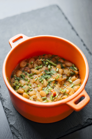 portuguese feijoada de marisco bean and seafood traditonal stew tapas dish