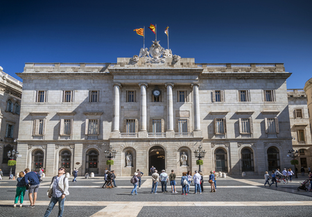 governement: Generalitat Palace building of the Catalan government at Plaza de Sant Jaume barcelona spain