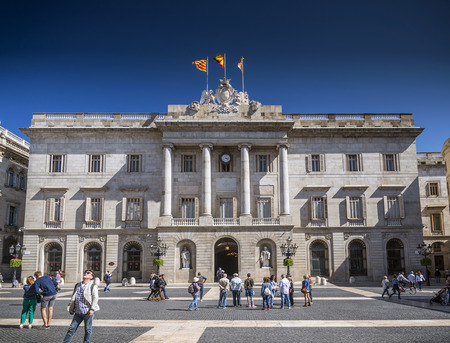 governement: city hall building of the Catalan government at Plaza de Sant Jaume barcelona spain