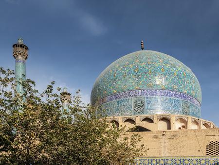 persian islamic architecture detail of imam mosque landmark in esfahan isfahan iran