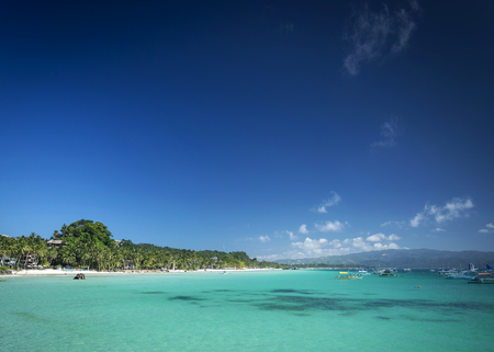 diniwid resort beach view in tropical exotic paradise boracay island philippines Reklamní fotografie