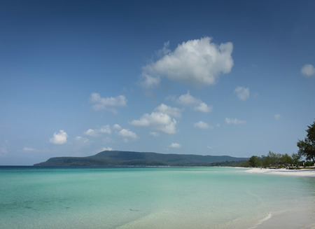 lang strand in tropisch paradijs koh rong eiland in de buurt van sihanoukville cambodja Stockfoto