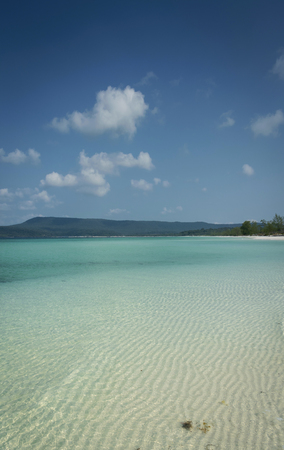 long beach in tropical paradise koh rong island near sihanoukville cambodia