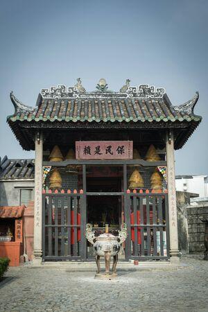 Na Tcha Temple small chinese old shrine landmark in macau city china