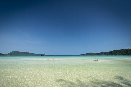Saracen Bay tropical paradise beach in Koh Rong Samloen island in Cambodia
