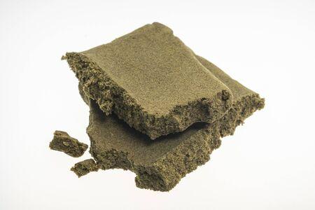 medical marijuana moroccan hash cannabis pollen hashish closeup in morocco Standard-Bild