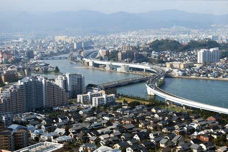 Fukuoka City Topview Stock Photo