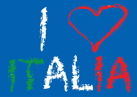 I love Italia Stock Vector - 13981261