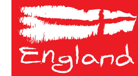 england flag  with red Background Vector