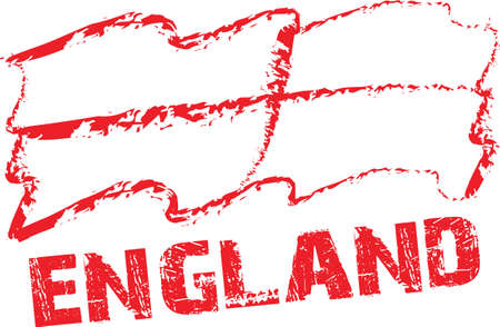 england flag  with white Background