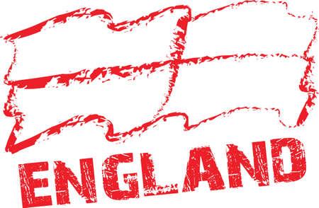 bandera inglaterra: la bandera de Inglaterra con el fondo blanco