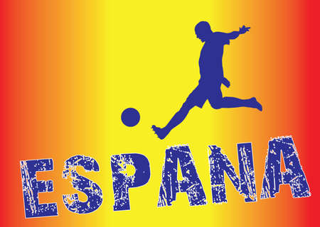 Spain football  in flag color style Stock Vector - 14018509