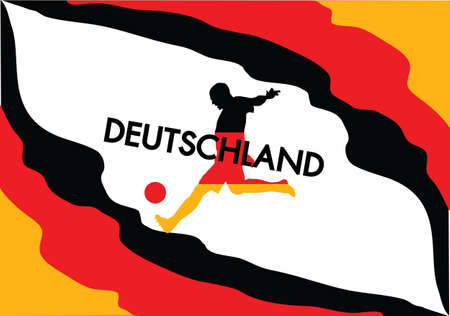 Germany football in flag color style Stock Vector - 14018473