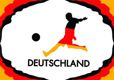 uefa: Deutschland Fu�ball Flagge in Farbe, Stil, Illustration