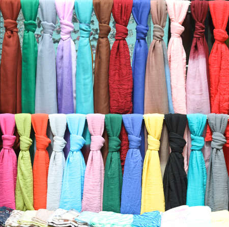 Colorful clothes and texture Stock Photo
