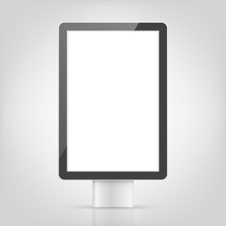 lightbox: blank advertising billboard. outdoor light box mock-up