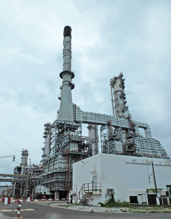 petrol bomb: Dusk at Refinery in Thailand