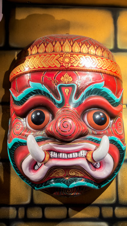 khon: Big Size of Hua Khon (Ancient Thai Traditional Show Mask)