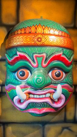 khon: Big Size of Hua Khon (Ancient Thai Traditional Show Mask)