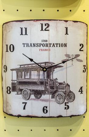 past midnight: Old Classic Retro Wall Clock