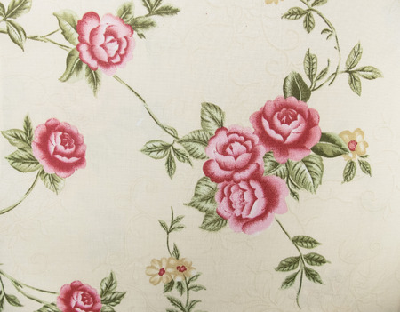 Retro Floral Pattern Fabric Background photo