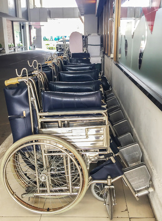 disablement: Row of Wheel Chairs used as Template
