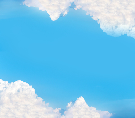 nebulosity: Clear Blue Sky with Cloud as Frame used as Template to input Text