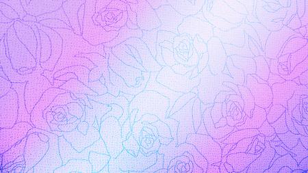 batik pattern: Rose Floral Pattern Background Texture Vintage Style for Furniture Material