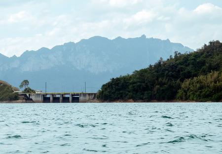 thani: Landscape View of Ratchaprapa dam, Surat Thani Thailand