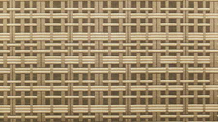 Brown and Beige Fabric Textile with Square Seamless Pattern for Furniture Material or Decoration Background Texture