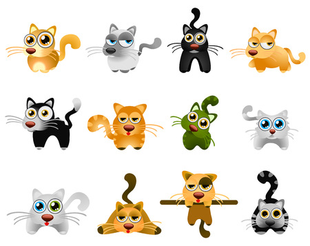 character set: cute cats