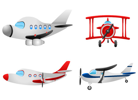 airplane cartoon: cartoon plane set