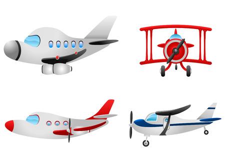 avion caricatura: plano de conjunto de dibujos animados