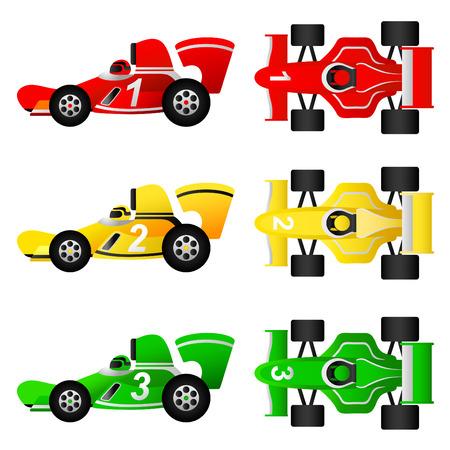 drag race: conjunto de coches de carrera