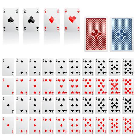 cartas de poker: colecci�n de tarjeta de juego