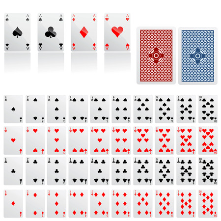 poker cards: collection of game card