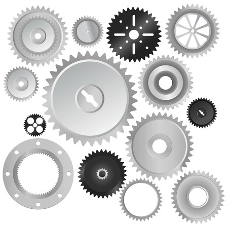 clock gears: set of gear wheels  Illustration