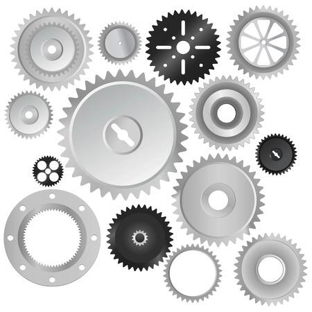 set van tand wielen  Vector Illustratie
