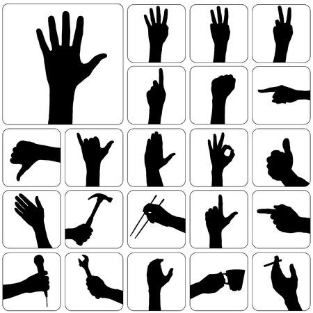 finger prints: conjunto de mano