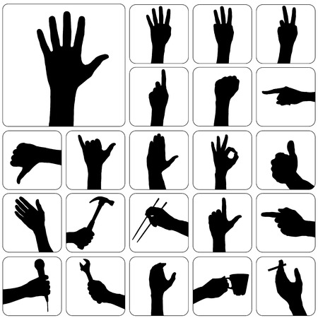 palm of hand: set of hand