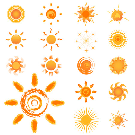 set of sun Stock Vector - 8198169