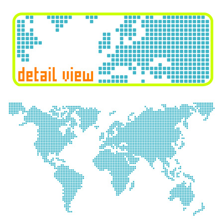 dotted world  Vector