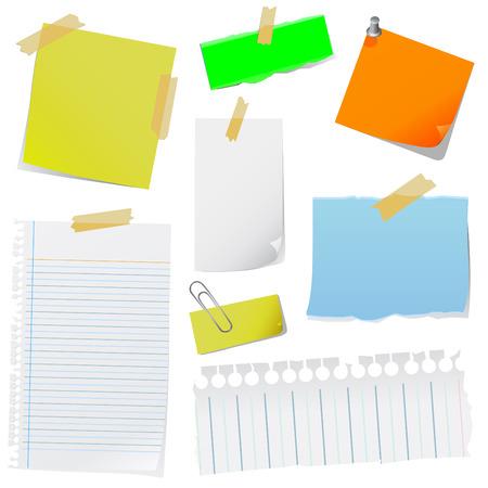 tachuelas: papel de nota
