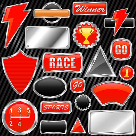 chrome graphic elements Stock Vector - 8198149