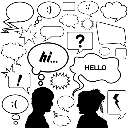 dialog bubbles great set   Vector